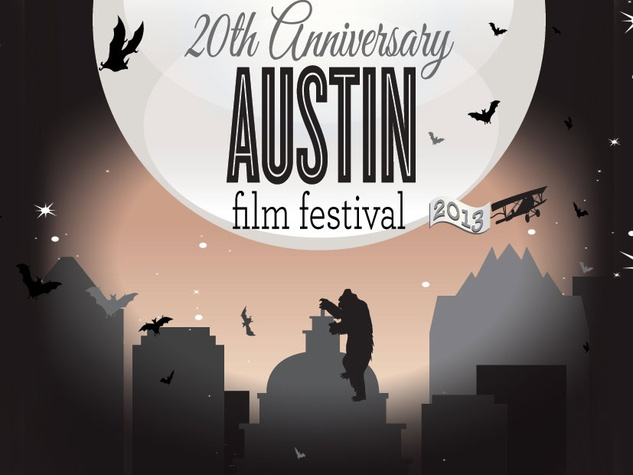 Logo for 20th Austin Film Festival AFF with silhouette of King Kong