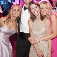 20 Anna Lebidinsky with J&D Entertainment, from left, Ford Beckham, Bell Blakemore, Steven Guithier, Sarah Watts and Katie Connor at Heart Ball February 2015
