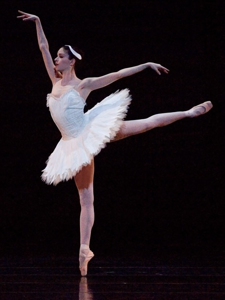Houston Ballet Mireille Hassenboehler in Swan Lake 1 choreographed by Stanton Welch