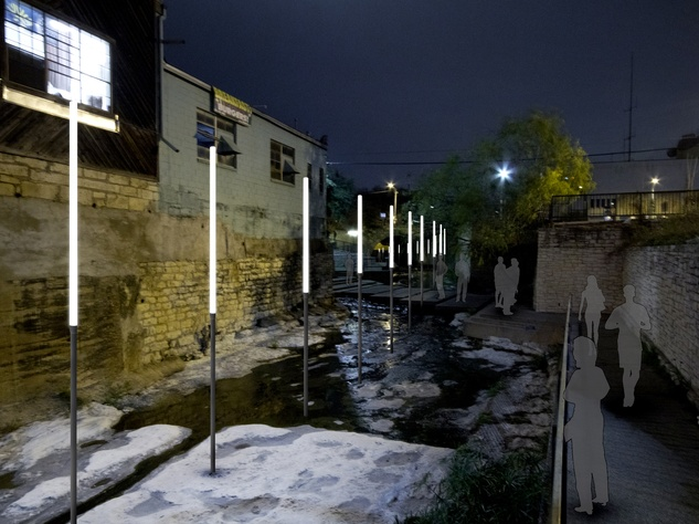 Baldridge Architects Tracing the Line Waller Creek Light Show