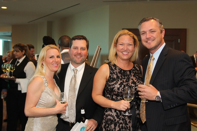 Kerrie and Cal Lyons, from left, and Chris and Erin DeCuir at The Center for Hearing and Speech Gala March 2015