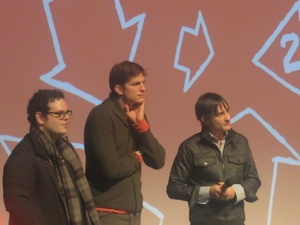 Josh Gad, Ashton Kutcher, Joshua Michael Stern, jOBS, Sundance Film Festival, January 2013
