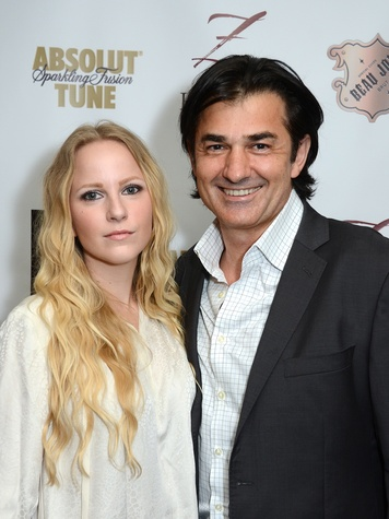Emily Cotton and Philippe Schmit at the Fashion Houston Launch Party October 2013