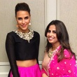 Neha Dhupia, left, and Ruchi Mukherjee at the South Asian Chamber Gala February 2014