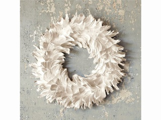 Feather wreath at West Elm
