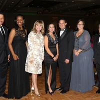 2 Doug and Winell Herron, from left, Cyndy Garza Roberts, Corina and Armando Perez and Lisa and Juan Alonso at the AAMA Tacos y Tacones Gala October 2014
