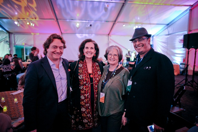 Miguel Soler-Roig, from left, Christina Girard, Anne Wilkes Tucker and Hamza Serafi at the FotoFest opening party March 2014