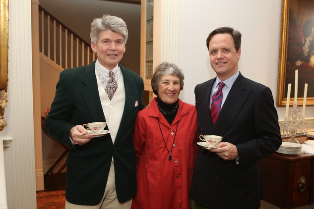 160 Dr. Steve Hamilton, from left, Marquita Masterson and Christopher Gardner at the Houston Grand Opera Tea March 2015