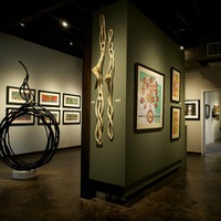 interior gallery with art at Davis Gallery and Framing