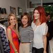 Katy Atlas, from left, Issa Chu and Magen Pastor at the Julie Rhodes Fashion & Home Houston opening party October 2013