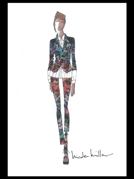 Clifford, Fashion Week, sketches, Nicole Miller, September 2012