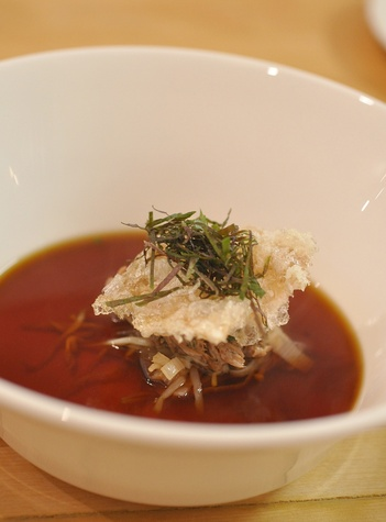 Common Bond oxtail consomme