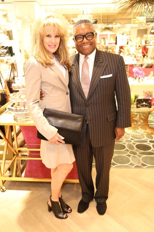 Laura Heatherly, CEO of TJ Martell and ET Investor Don Jones at Elaine Turner New York Fashion Week launch party September 2014