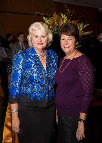8 Kathleen Ownby, left, and Marilyn Daniel at the Houston Tomorrow Awards October 2014