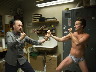 Michael Keaton and Edward Norton in Birdman