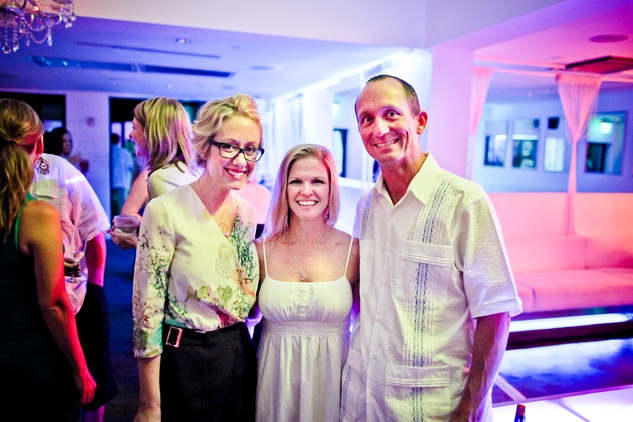 22 Katie Beirne, from left, with Julie and Jeff Donovan at A Night in Havana July 2014