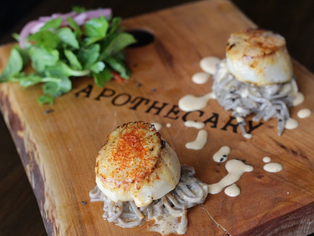 Apothecary food Austin scallop