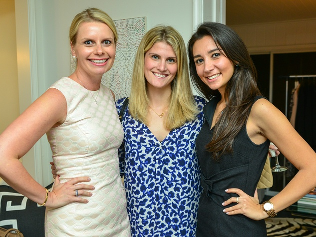 19 Valerie Dieterich, from left, Kate Stouffer and Hasti Taghi at the Baanou trunk show December 2013