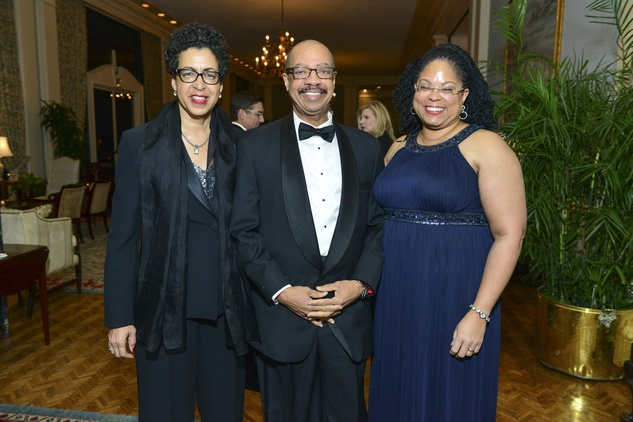 Docia and John Rudley, from left, with Marcia West at the Inprint Poets & Writers Ball February 2014