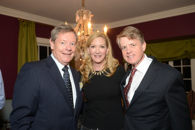 Ron Gremillion, from left, Carol Rowley and Brian Freeze at the JDRF gala kick-off party January 2014