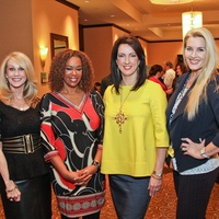 Arrow Luncheon, February 2013, Jackie Garner, Deborah Duncan, Alicia Smith, Kimberly DeLape