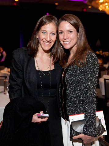 Bekah Hotze Gorder, left, and Hannah Kayem at Bo's Place luncheon February 2014