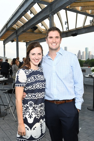 Laura Addington, Austin Tucker at Barbara Bush Foundation gala kickoff