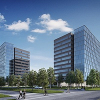 West Memorial Place rendering Skanska office tower planned for Energy Corridor September 2013