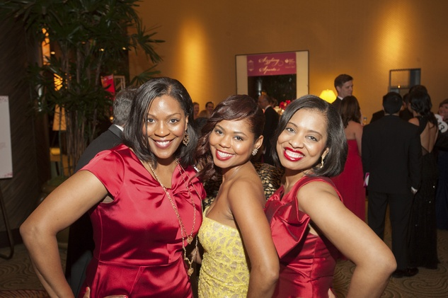15 Kimberly Harris, from left, Shataria Greene and Shawntell McWilliams at Heart Ball February 2015
