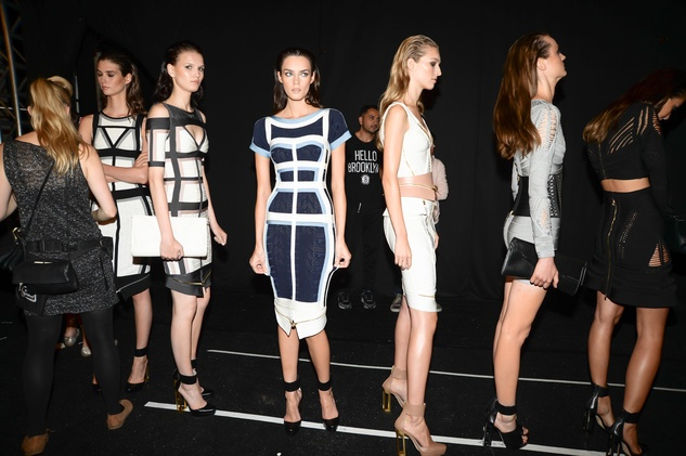Herve Leger, backstage, Mercedes-Benz Fashion Week, Sept. 2013