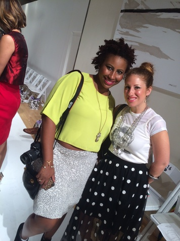 Yolanda Washington and Bee Mandleberg at Amir Taghi show at New York fashion week