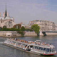 Paris boat ride down the Seine on a Bateau Mouche tourist boat