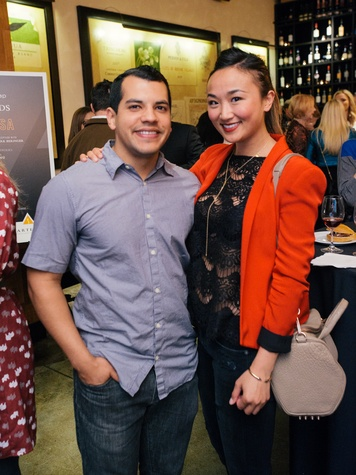 9 Fernando Martinez and Mona Lisa Nguyen at the Artesa wine tasting at Cru March 2014