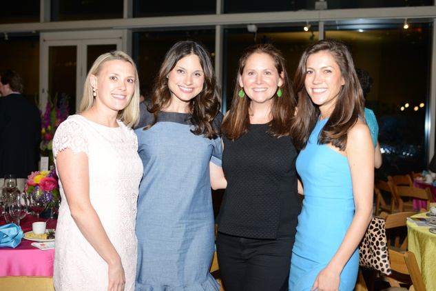 24 269-Peyton Popp, from left, Leslie Pitts, Anne Calder and Alana Highberger at the Casa de Esperanza benefit April 2014