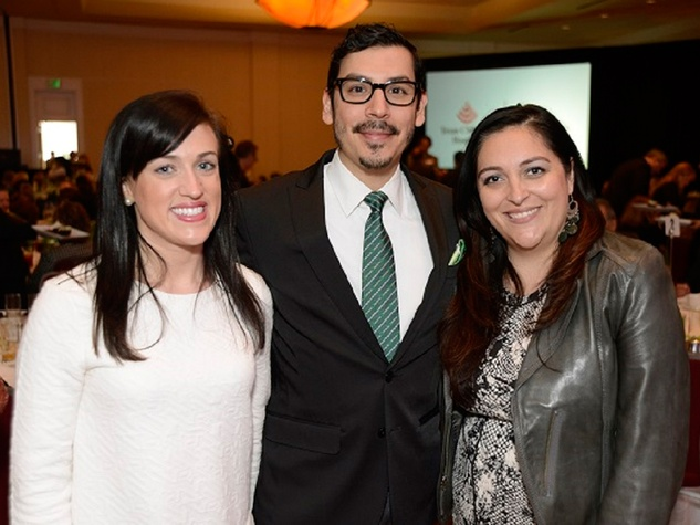 8 Jessica Canfield, from left, James Rodriguez and Eileen Gonzalez at the Texas Children's  Hospital - The Woodlands groundbreaking February 2014