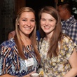 Ally Hatz, left, and Katie Church at Casa de Esperanza Young Professionals party July 2014