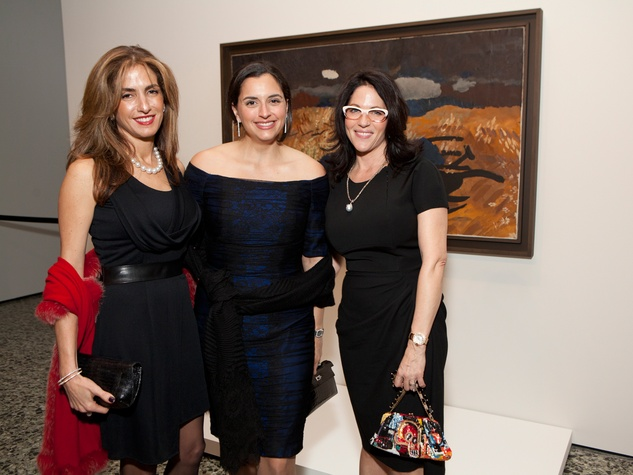 13 Sima Ladjevardian, from left, Zeina Fares and Karen Pulaski at the MFAH Georges Braque opening reception February 2014