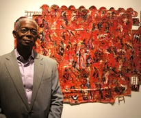 Floyd Newsum, Hidden from View, 2012, oil, oil pastel, acrylic and collage, Wade Wilson Gallery, Houston, November 2012