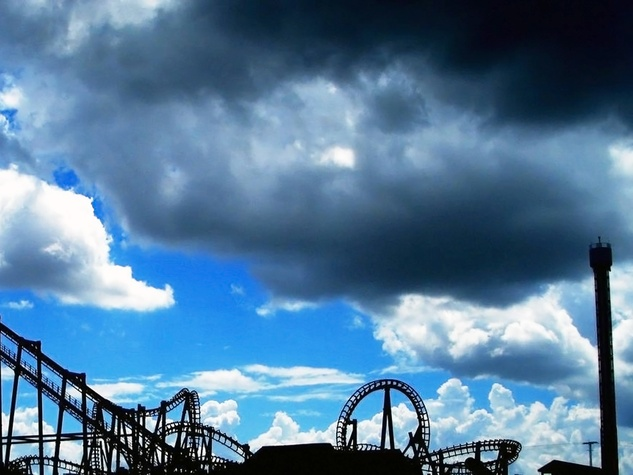 Astroworld roller coaster silhouette