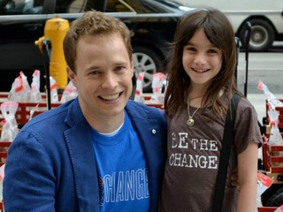 Hannah Alper and Marc Kielburger from We Day