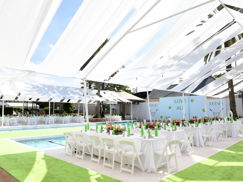 Houston, River Oaks and Tootsies tennis tournament luncheon, April 2017, decor