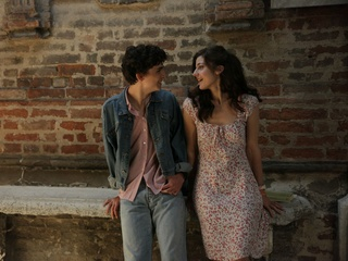 Timothée Chalamet and Esther Garrel in Call Me By Your Name