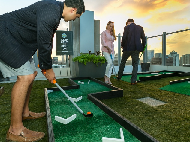CultureMap Country Club Social playing golf