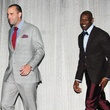 Adrian Peterson fashion show, February 2013, Matt Shaub, NAME