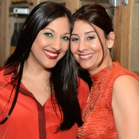 1 Dr. Sippi Khurana, left, and Perri Palermo at the KNOWAutism Foundation reception September 2014.