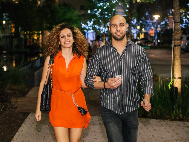 12 Nesrine Aroua and Samy Alaoui at CityCentre Night Out with CultureMap April 2014