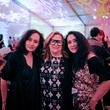 Shadia Alem, from left, Barbara Davis and Raja Alem at the FotoFest opening party March 2014
