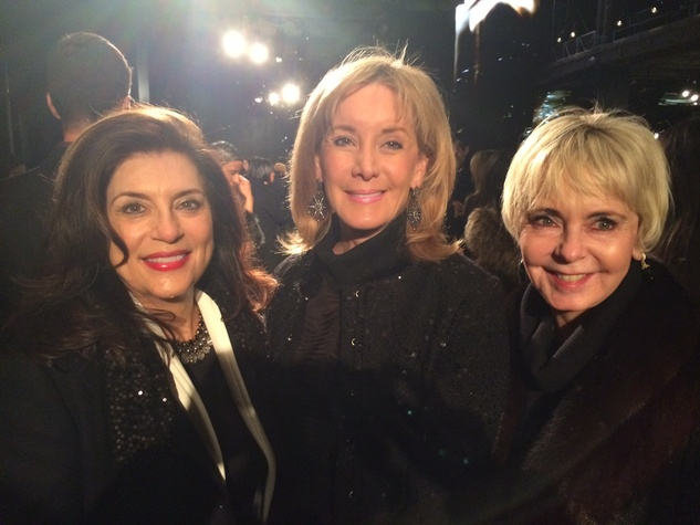 Dancie Ware, Sheridan Williams and Karen Mayell at Donna Karan show February 2014