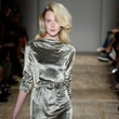 Fashion Week spring 2015 Jenny Packham metallic column gown