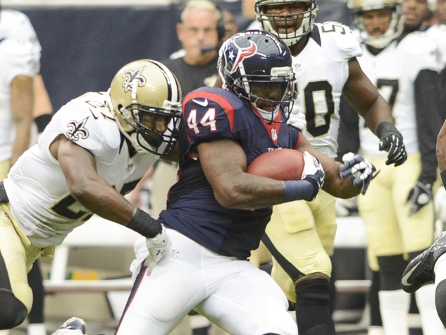 Ben Tate Saints Texans tackle